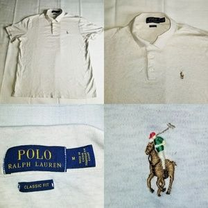 Polo  Ralph Lauren Classic Fit with Pony cream Med